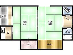 道川文化[1階]の間取り