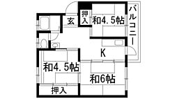 宝梅園(住宅供給公社賃貸物件)[5階]の間取り