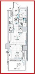 東京都台東区松が谷2丁目の賃貸マンションの間取り