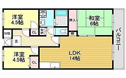 シティハイム平成[3階]の間取り