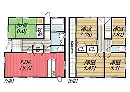 [一戸建] 千葉県千葉市若葉区桜木北3丁目 の賃貸【/】の間取り