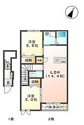 (仮称)桜森アパート2[205号室]の間取り