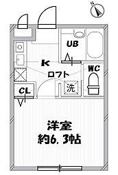 レトワールA・B[B-105号室]の間取り