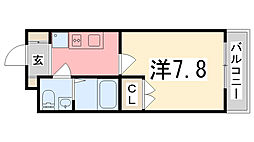 兵庫県姫路市飾磨区天神字天神町の賃貸アパートの間取り