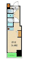 JR山手線 新宿駅 徒歩7分の賃貸マンション 14階ワンルームの間取り
