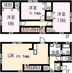 [一戸建] 愛媛県新居浜市松神子3丁目 の賃貸【/】の間取り