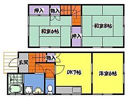 [タウンハウス] 兵庫県明石市小久保5丁目 の賃貸【/】の間取り