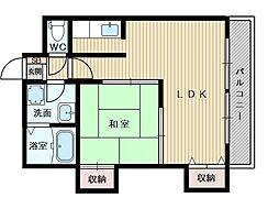 光川ハイツ[3階]の間取り
