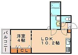 Branche箱崎宮前[4階]の間取り