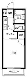 エフォート2[1階]の間取り