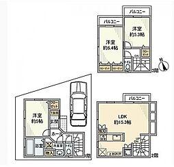 [一戸建] 神奈川県横浜市旭区今宿西町 の賃貸【/】の間取り