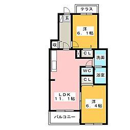 カームリー[1階]の間取り