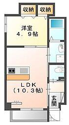 仮)中区正木3丁目自宅併用店舗マンション[3階]の間取り