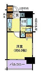 エステムプラザ品川大崎駅前レジデンシャル 9階1Kの間取り