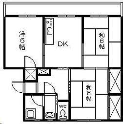 石川ビル第2[402号室]の間取り