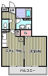 グランシャリオI棟[2階]の間取り