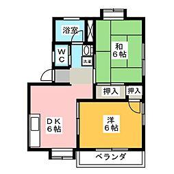 サンビーム仙水[1階]の間取り