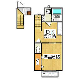 リマーレ山科[2階]の間取り