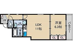 シャーメゾン・ジュン[1階]の間取り