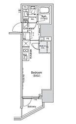 都営浅草線 大門駅 徒歩8分の賃貸マンション 15階ワンルームの間取り