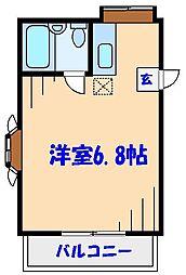 ローズアパートQ11番館[2階]の間取り