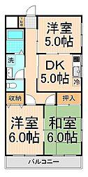 ヨコタハイツ[201号室]の間取り