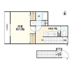 東京メトロ丸ノ内線 四谷三丁目駅 徒歩5分の賃貸マンション 1階1Kの間取り