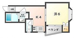 菊水パレス[3階]の間取り