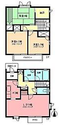 [テラスハウス] 神奈川県横浜市都筑区牛久保2丁目 の賃貸【神奈川県 / 横浜市都筑区】の間取り