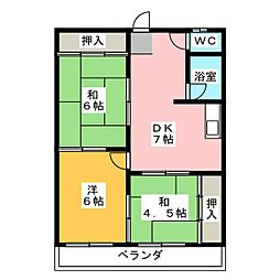 第3菊屋ビル[5階]の間取り