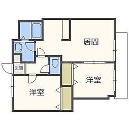 北海道札幌市東区北四十二条東16丁目の賃貸マンションの間取り