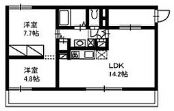 神奈川県厚木市林2丁目の賃貸マンションの間取り