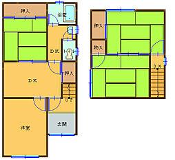 [一戸建] 和歌山県和歌山市関戸3丁目 の賃貸【和歌山県 / 和歌山市】の間取り