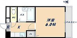 大阪府東大阪市旭町の賃貸マンションの間取り