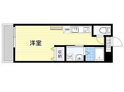 AMOTIS-K 1階ワンルームの間取り
