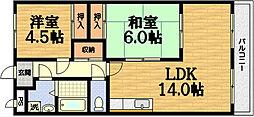 第50長栄ボンプレミール[3階]の間取り