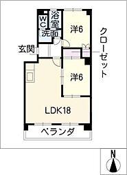 カーサユタカ[2階]の間取り