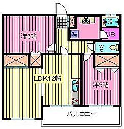 埼玉県川口市芝富士1丁目の賃貸マンションの間取り