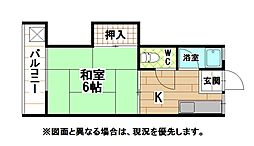 福岡県北九州市八幡西区大浦3丁目の賃貸アパートの間取り