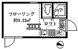 フェリスピュール[202号室]の間取り