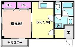 パルテール3[4階]の間取り