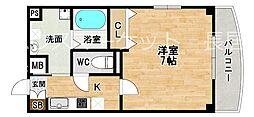 ラフォンテ中野[6階]の間取り