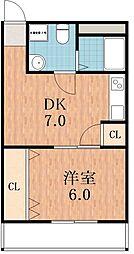 天王寺MIYO[3階]の間取り