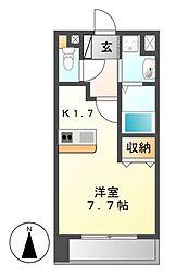プレサンス名古屋城前[2階]の間取り