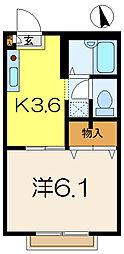 コート・ドゥ・ベール弐番館[1階]の間取り