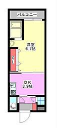 No.47PROJECT2100小倉駅[2階]の間取り