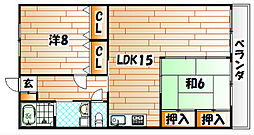 学園台ビル[4階]の間取り