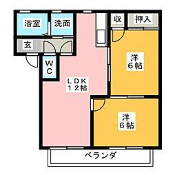 ロワール         2001250[2階]の間取り