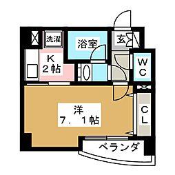 ラピス雨宮[2階]の間取り