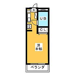 エクセランス小池[2階]の間取り